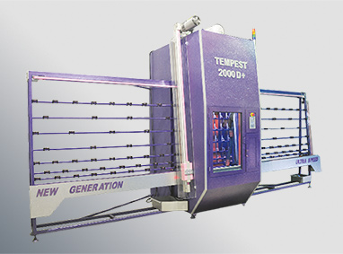 TEMPEST D+ SERIES Vertical Sand Blasting Machines For Flat and Bend Glass